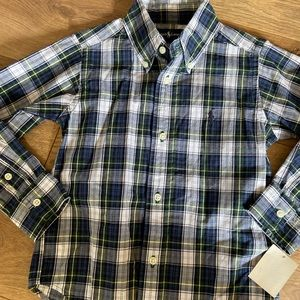 Ralph Lauren Plaid Shirt Sz 2T NWT